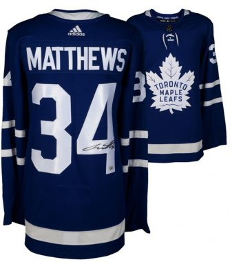 Auston Matthews de los Toronto Maple Leafs playera firmada