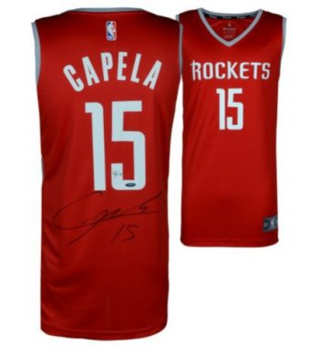 Clint Capela de Houston Rockets playera firmada