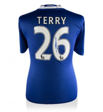 John Terry playera firmada del Chelsea de Local