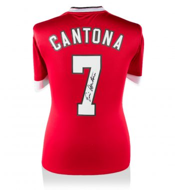 Eric Cantona playera firmada del Manchester United de Local