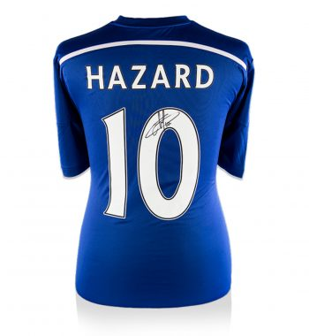 Eden Hazard playera firmada del Chelsea de Local