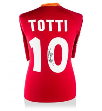 Francesco Totti playera firmada de la Roma de Local