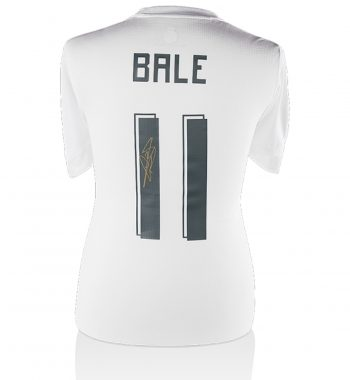 Gareth Bale playera firmada del Real Madrid