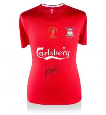 Luis Garcia playera firmada del Liverpool de Local