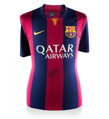 Luis Suarez playera firmada del FC Barcelona de Local