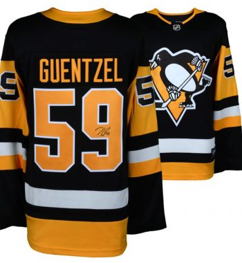 Jake Guentzel de los Pittsburgh Penguins playera firmada
