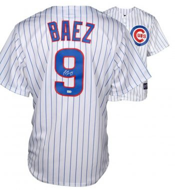 Javier Baez playera firmada Chicago Cubs