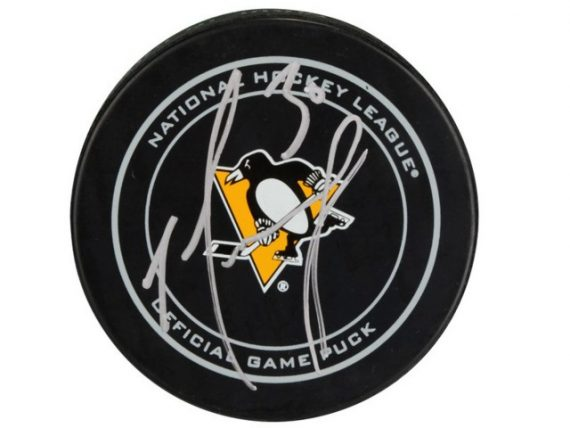 Matt Murray de los Pittsburgh Penguins puck firmado