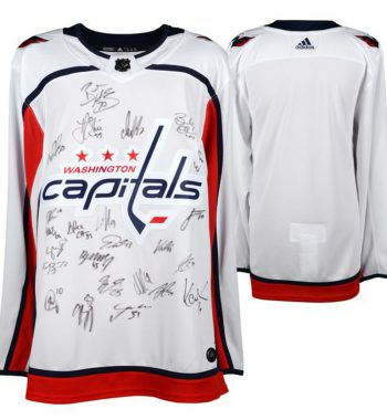 Washington Capitals 2018 Stanley Cup Champions con 22 firmas playera firmada