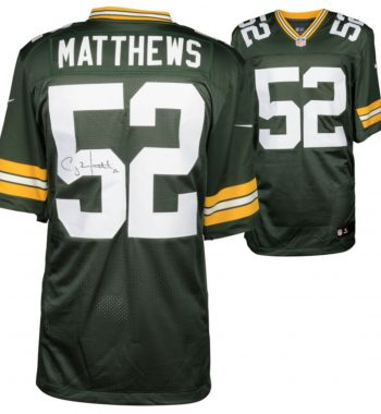 Clay Matthews Green Bay Packers playera verde firmada