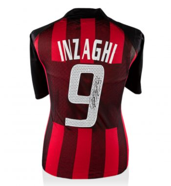 Filippo Inzaghi playera firmada del AC Milan de Local