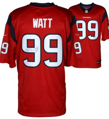 J.J. Watt Houston Texans playera roja firmada